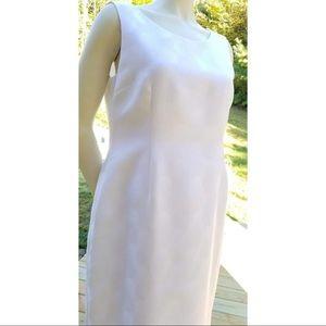 Jones Studio Knee Length White Dress Size 10